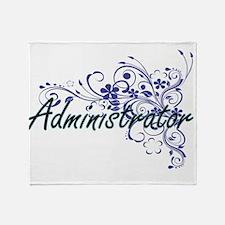 Administrator Artistic Job Design wi Throw Blanket