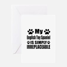 English Toy Spaniel is simply irrepl Greeting Card