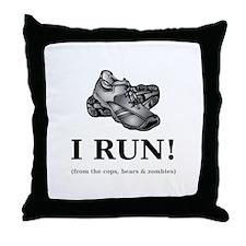 I RUN! Throw Pillow