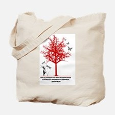 Funny Dragonfly and trees Tote Bag