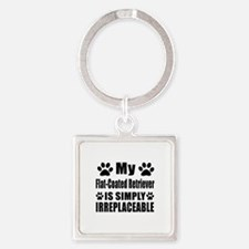 Flat-Coated Retriever is simply ir Square Keychain