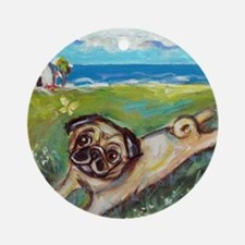 Cute Whimsical painting Round Ornament