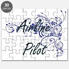 Airline Pilot Artistic Job Design with Flow Puzzle