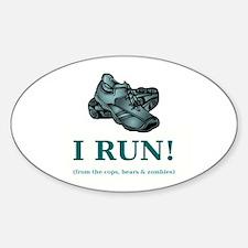 I RUN! Decal