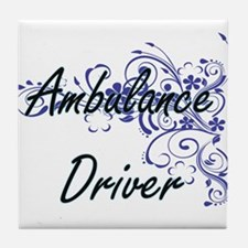 Ambulance Driver Artistic Job Design Tile Coaster