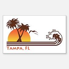 Tampa FL Sticker (Rectangle)