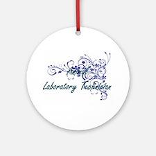 Animal Laboratory Technician Artist Round Ornament