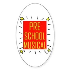 PRE-SCHOOL Oval Decal