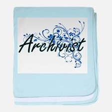 Archivist Artistic Job Design with Fl baby blanket