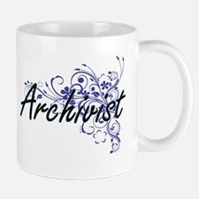 Archivist Artistic Job Design with Flowers Mugs
