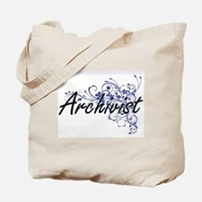 Archivist Artistic Job Design with Flower Tote Bag
