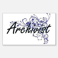 Archivist Artistic Job Design with Flowers Decal