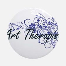 Art Therapist Artistic Job Design w Round Ornament