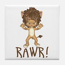 Rawr! Lil Lion Tile Coaster