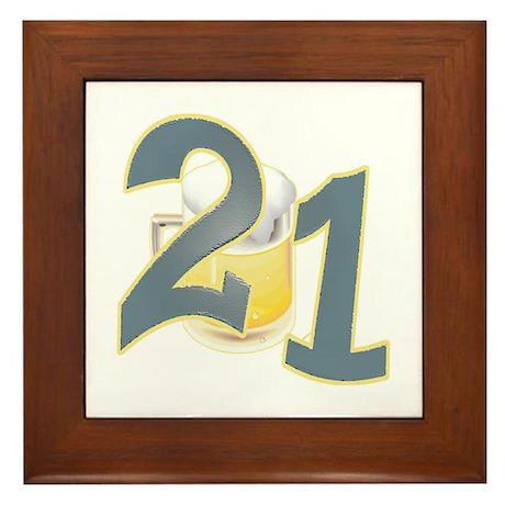 """21st Birthday """"BEER"""" Framed Tile"""