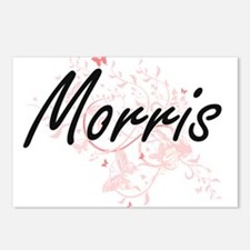Morris surname artistic d Postcards (Package of 8)