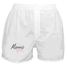 Morris surname artistic design with B Boxer Shorts