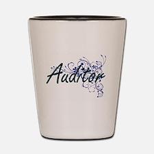 Auditor Artistic Job Design with Flower Shot Glass