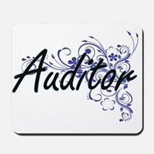 Auditor Artistic Job Design with Flowers Mousepad