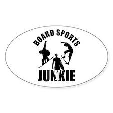 Boardsports Junkie Oval Decal