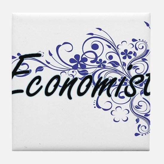 Economist Artistic Job Design with Fl Tile Coaster