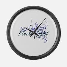 Electrologist Artistic Job Design Large Wall Clock