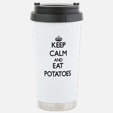 Cute Keep calm and eat beef Travel Mug