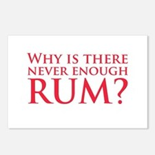 Never enough rum? Postcards (Package of 8)