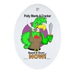 Polly Wants A Cracker Oval Ornament