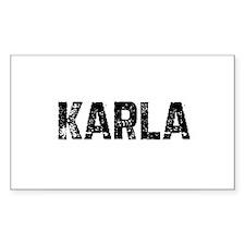 Karla Rectangle Decal