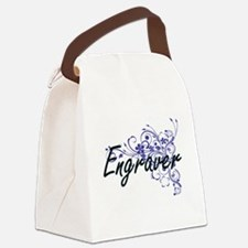 Engraver Artistic Job Design with Canvas Lunch Bag