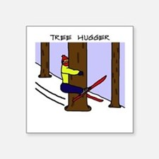 "Funny Hugger Square Sticker 3"" x 3"""