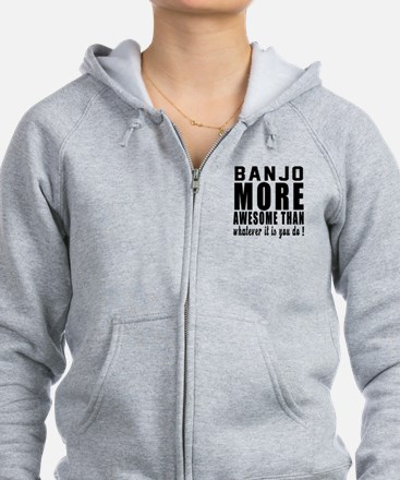 Banjo More Awesome Instrument Zip Hoodie