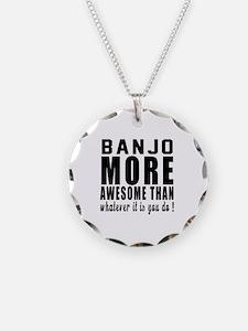 Banjo More Awesome Instrumen Necklace