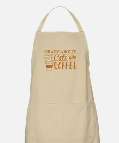 Crazy about cats and coffee Apron