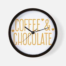 Coffee and chocolate Wall Clock