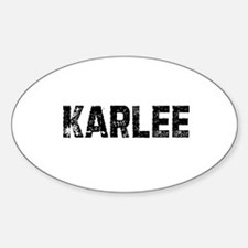 Karlee Oval Decal
