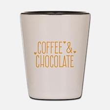 Coffee and chocolate Shot Glass