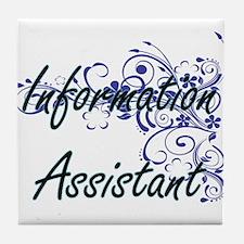 Information Assistant Artistic Job De Tile Coaster