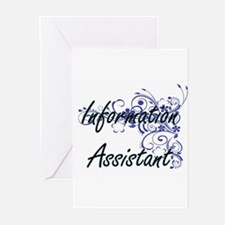 Information Assistant Artistic Job Greeting Cards