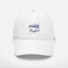 Information Manager Artistic Job Design with F Baseball Baseball Cap