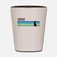 Retro 1970s Chess Shot Glass
