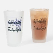 Information Technologist Artistic J Drinking Glass