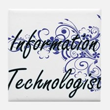 Information Technologist Artistic Job Tile Coaster