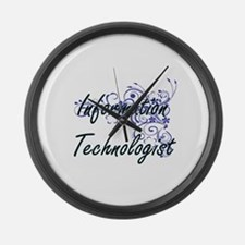 Information Technologist Artistic Large Wall Clock