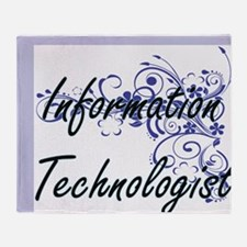 Information Technologist Artistic Jo Throw Blanket