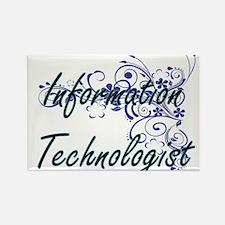 Information Technologist Artistic Job Desi Magnets