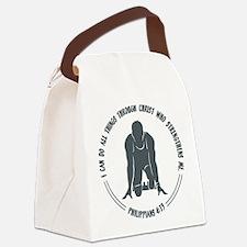 PHIL.4:13 - RUN Canvas Lunch Bag