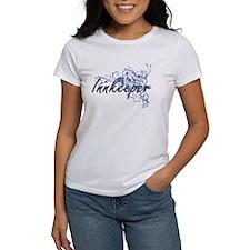 Innkeeper Artistic Job Design with Flowers T-Shirt