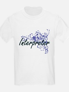 Interpreter Artistic Job Design with Flowe T-Shirt